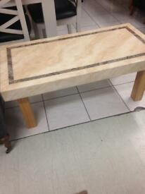 Marble top coffee table £99