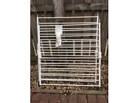 2 metal safety gates