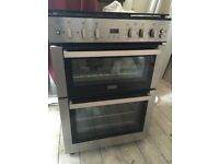 Chrome Silver Multi-Fuel Stoves Double Oven in excellent condition - 2 years old approx. RRP £550