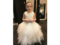 Light ivory flower girl dress