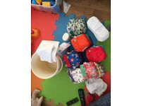 Reusable nappies (used)