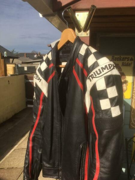 Triumph Racing leather jacket  for sale  Camborne, Cornwall