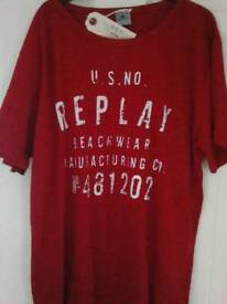 Replay t.shirts genuine with labels