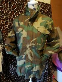 Woodlands m65 camouflage field combat coat
