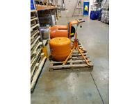 Belle Minimix 150 240v Mini Mix Cement Concrete Mixer Plus Stand And Spare Drum