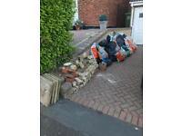 Free Hardcore 50/60 bags plus loose bricks/slabs