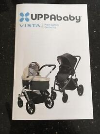 Uppababy Vista 2014 travel system/pushchair with accessories
