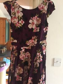 Floral purple Dorothy Perkins summer dress