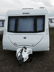 Elddis Avante 464 2010, 4 berth caravan with fixed bunk beds and Ego motor mover