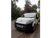 White Fiat fiorino van - low mileage - under 66000 and no VAT