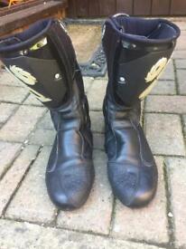 Motorbike boots, Sidi Black rain, size 7