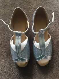 Girls brand new ballroom dancing shoes, size 2.5