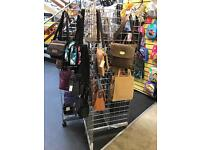 """Grid style display stand 5ft 4"""" on wheels"""