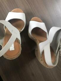 White Topshop wedges