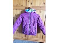 Girls reversible coat age 8-9 years