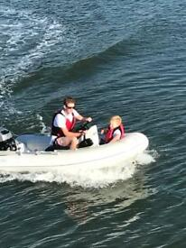 Grand 3.6mtr RIB boat with 20hp 4 stroke mariner