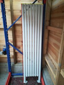 WHITE VERTICAL DOUBLE OVAL TUBED RADIATOR 2000X 472MM