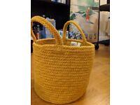 Yellow small storage basket