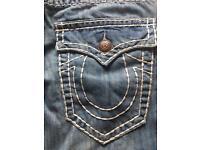 Men's new true religion jeans W34