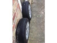 2 michellin part worn tyres