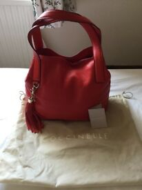 Coccinelle red leather bag, new