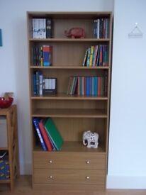Wooden bookshelf in excellent condition