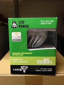 10x PAR38 LED DIMMABLE BULBS