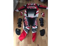 Fox Honda Motocross gear suit gloves top bottoms
