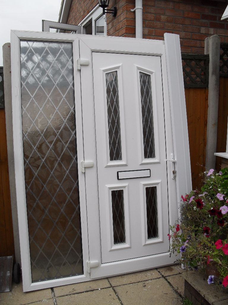 Rahul attractive white upvc double glazed front door and - Upvc double front exterior doors ...