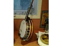Ome plectrum banjo.