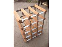 Industrial bar wine rack