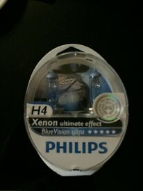 Philips blue vision h4 bulbs brand new