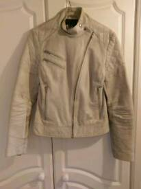 Ladies small leather biker style leather jacket