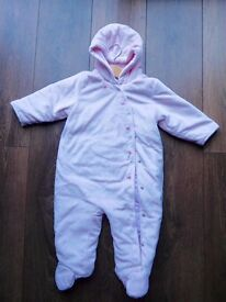 Baby girl winter all-in-one 9-12 months