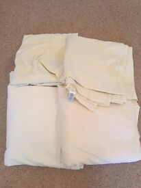 Selection of Cream Fitted and Flat Sheets