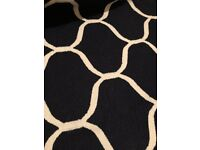 Ikea navy patterned rug