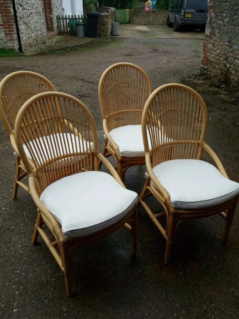 Four lovely Angrave bamboo chairs
