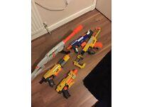 5 Nerf Guns mint condition