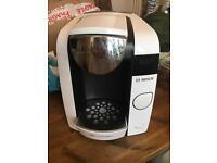 TASSIMO white hot drinks machine + PODS + POD Holders + sterilisers