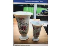 Royal winton Staffordshire vases