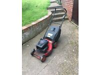 Broken petrol mower