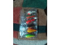 6 x Various Fishing Lures. Brand New.