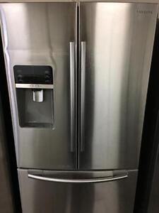 Samsung 3-door stainless water and ice - can deliver