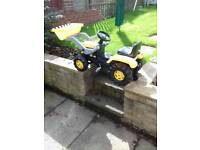 Ride on farm tractor digger front loader pedal sheffield aston