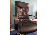 Black Executive Office Chair in Leather