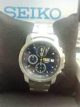 Seiko Chronograph Men's Watch 100M SNDP05P as new Bridgewater Brighton Area Preview