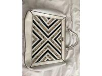 White patterned river island handbag