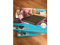 2 x Intex Inflatable Airbeds (doubles) Built in Pumps