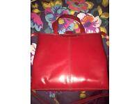 Zara Red Leather small tote bag