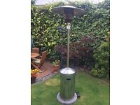 Patio Heater - stainless steel - 230cm high - Piezo Ignitor - complete with 1/2 full gas bottle